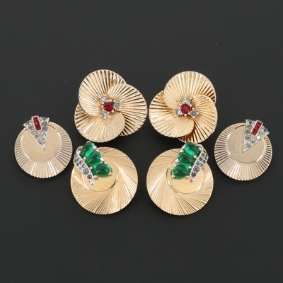 Retro Marcel Boucher Rhinestone Earring Assortment