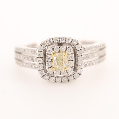 14K White Gold 0.98 CTW Diamond Ring