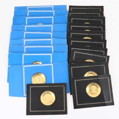 Twenty-One Franklin Mint U.S. First Lady Medals