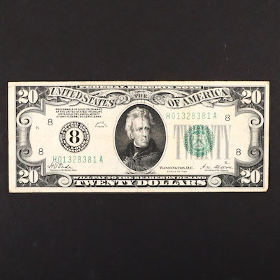 A Series of 1928 $20 Green Seal Federal Reserve Note