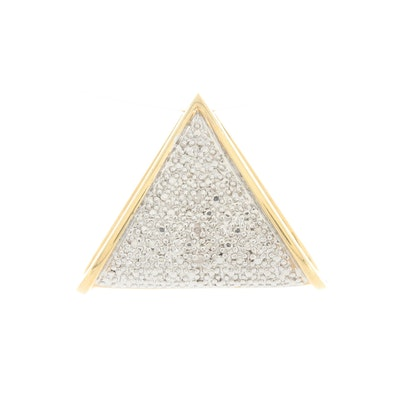 Gold Wash on Sterling Silver Diamond Slide Pendant