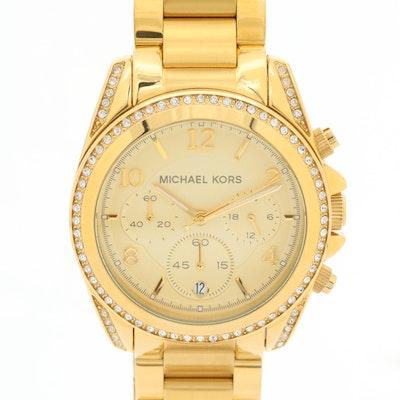 Michael Kors Blair Gold Tone Quartz Chronograph Wristwatch