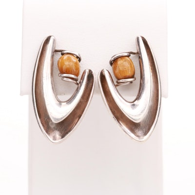 Sigi Pineda Sterling Silver Tiger's Eye Earrings