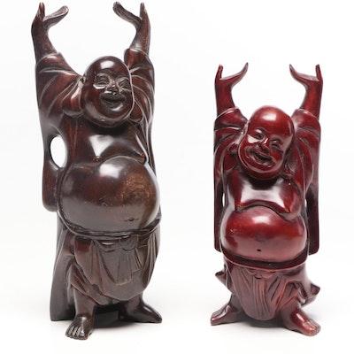 Chinese Budai Figurines, Late 20th Century