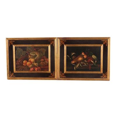 Pair of Fruit Still Life Prints
