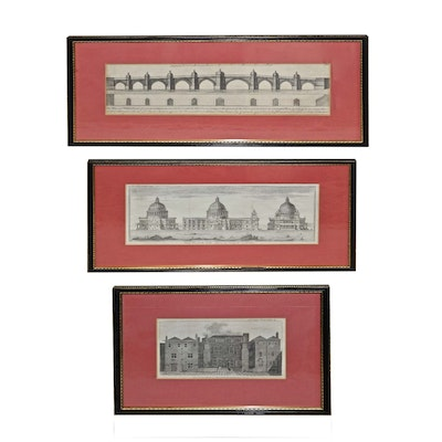 Late 18th Century Architectural Engravings