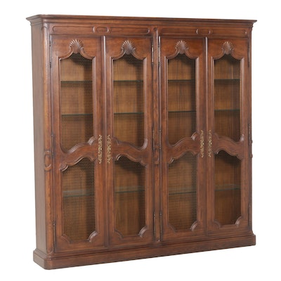 French Provincial Style Oak Wall Cabinet, Mid to Late 20th Century