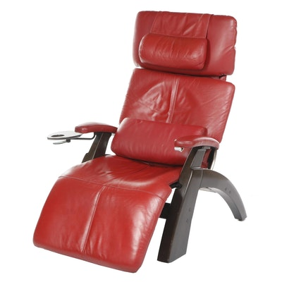 "Interactive Health ""Perfect"" Modern Red Leather Electric Recliner Chair"