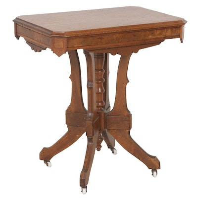 Eastlake Walnut Side Table, Late 19th Century