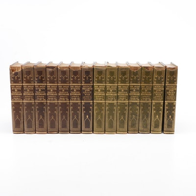 """The Great Events"" Gilt Leather History Volumes, Circa 1923"
