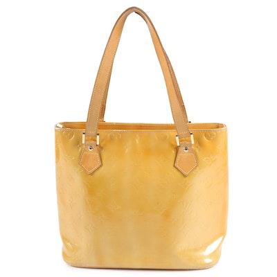 Louis Vuitton Paris Houston Tite in Mango Vernis Leather