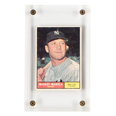 1961 Topps #300 Mickey Mantle Baseball Trading Card