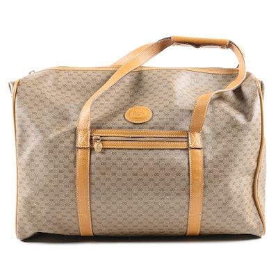 Gucci Microguccissima Coated Canvas and Leather Weekender Duffle Bag, Vintage