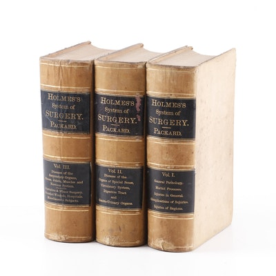 "1881 ""Holmes's System of Surgery"" Illustrated Three Volume Set"