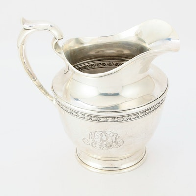 Wm. B. Durgin Sterling Silver Water Pitcher, Early to Mid 20th Century