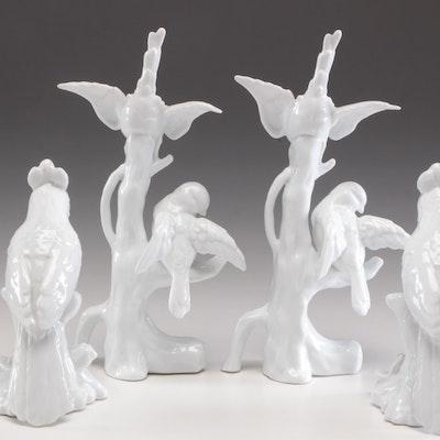 Decorative Ceramic Bird Figurine Pairs