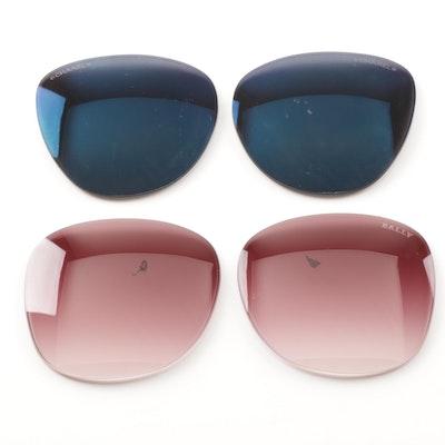 Chanel and Bally Sunglass Lenses