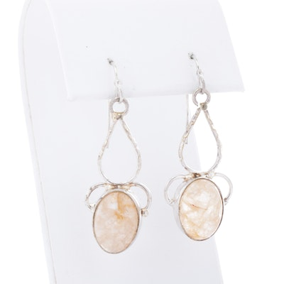 Sterling Silver and Quartz Earrings