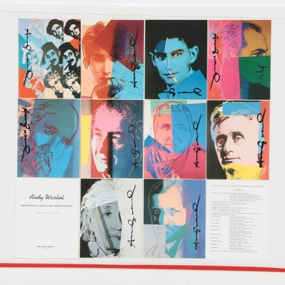 "Andy Warhol Signed ""Ten Portraits of Jews of the Twentieth Century"" Booklet  COA"