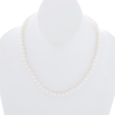14K Yellow Gold and Cultured Freshwater Pearl Necklace
