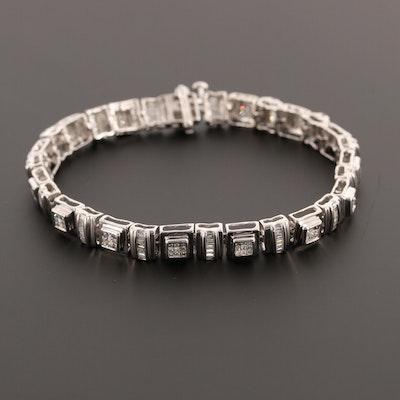 10K White Gold 2.65 CTW Diamond Bracelet