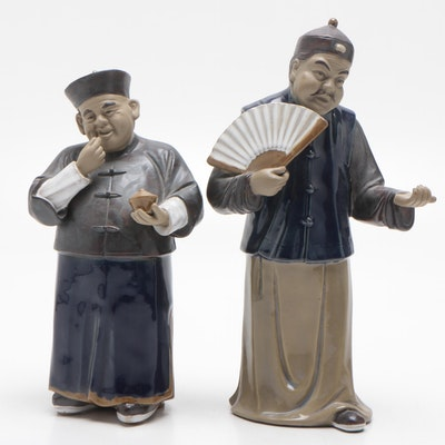 Contemporary Chinese Wanjia Ceramic Figurines