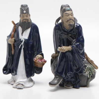 Chinese Shiwan Style Ceramic Figurines