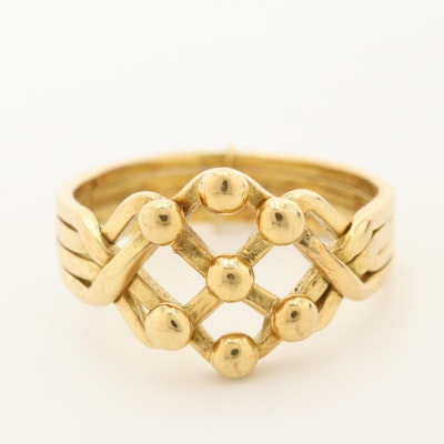 18K Yellow Gold Puzzle Ring
