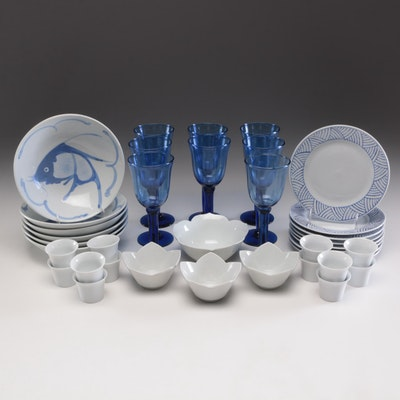 Pier 1 Imports Plates and Other Ceramic and Glass Dinner and Serveware