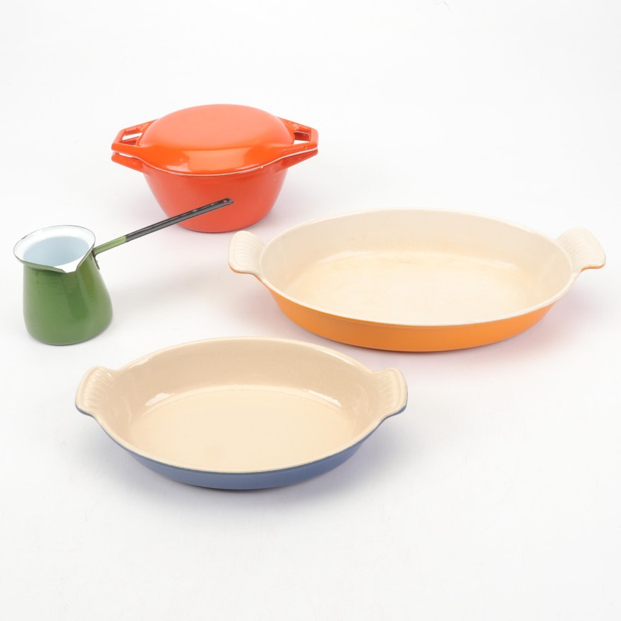Mid Century Cookware Including Le Creuset and Copco Denmark