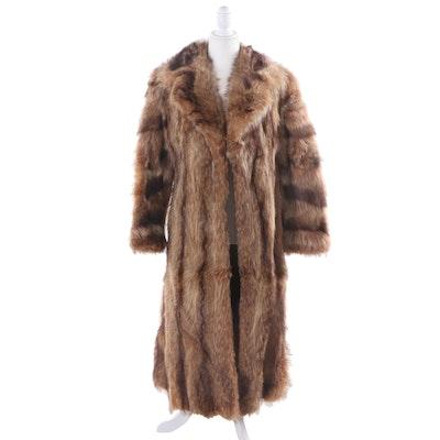 Revillon for Saks Fifth Avenue Raccoon Fur Coat, Vintage