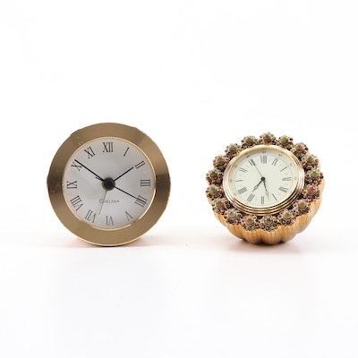 Jay Strongwater and Chelsea Desk Clocks