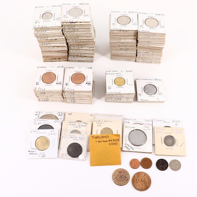 Approximately 210 Foreign Coins
