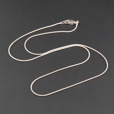 Sterling Silver Snake Link Chain Necklace