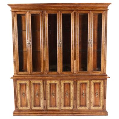 American Of Martinsville Wooden Transitional Style China Cabinet