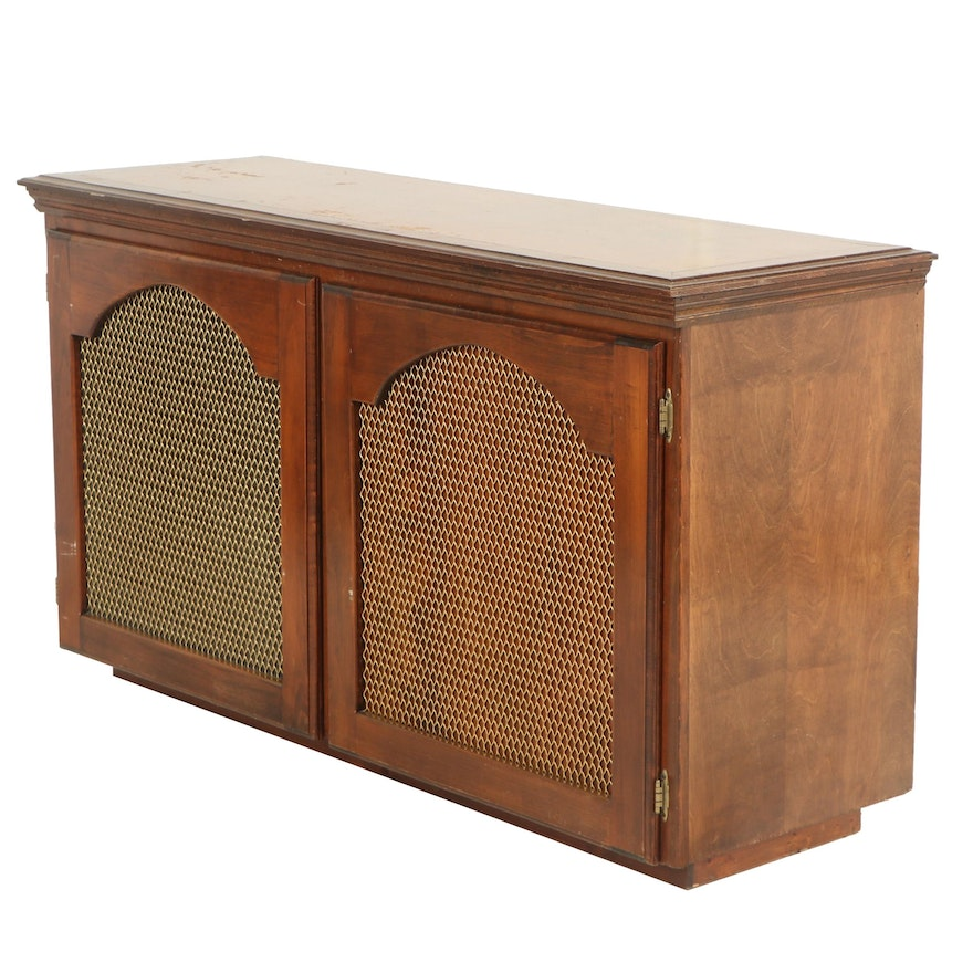 Wooden Record Cabinet, Mid 20th Century