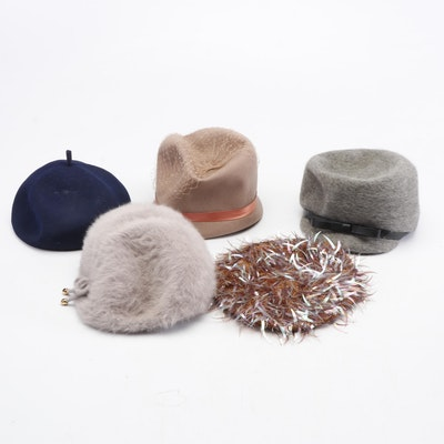 Kangol Hats and Wool Cloches, 1960s Vintage