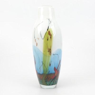 Mihai Topescu Romanian Glass Vase