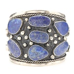 Turkmen Cuff with Freeform Lapis Lazuli Gemstones