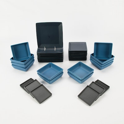 CB2 Square Ceramic Dinnerware