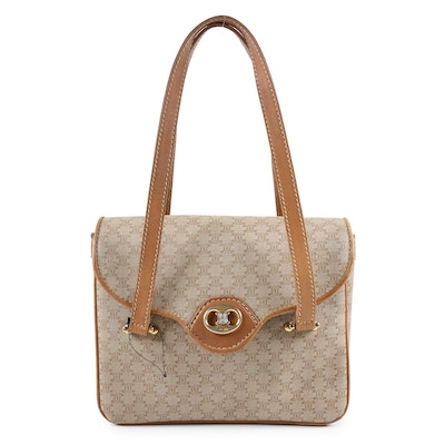 Celine Paris Handbag In Monogram Coated Canvas and Leather