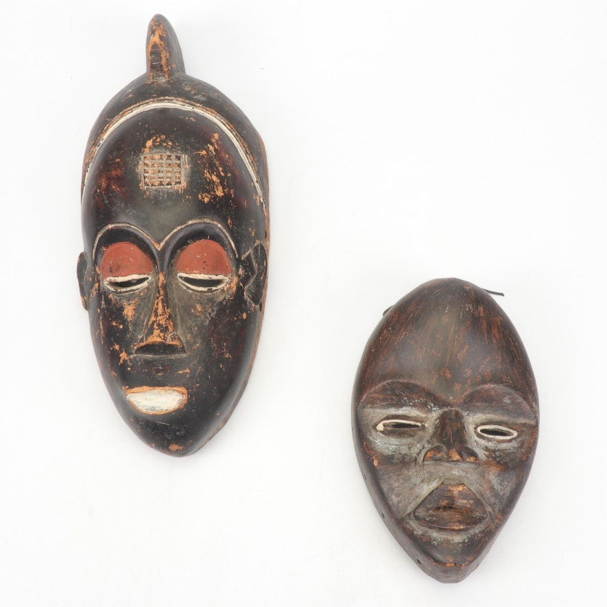 African Style Hand-Carved Wooden Masks