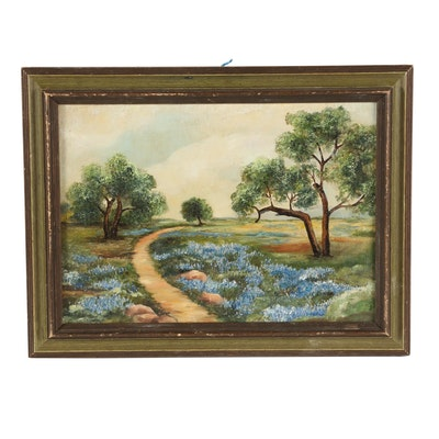 Texas Bluebonnets Oil Painting