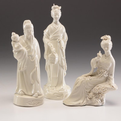 Chinese Blanc de Chine Porcelain Figurines