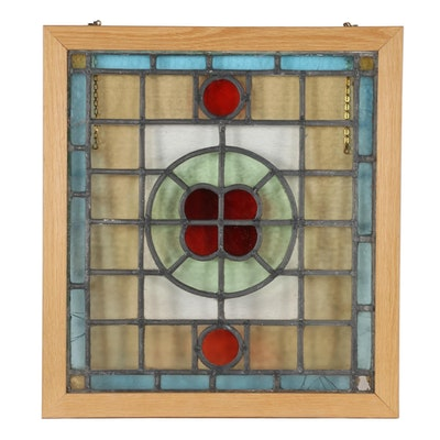 Stained Glass Hanging Window Panel