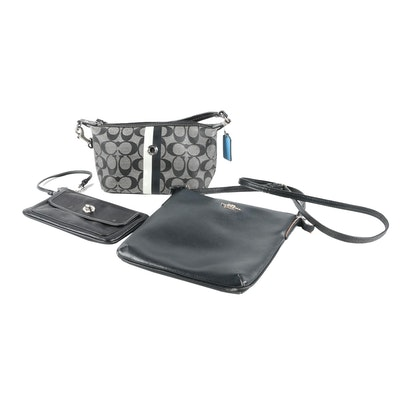 Coach Crossbody Bag, Heritage Stripe Pouch and Wristlet with Turnlock Pocket