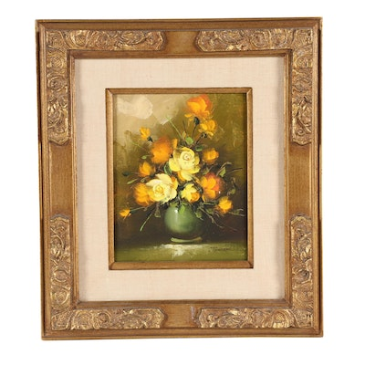 Johnson Floral Still Life Oil Painting