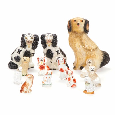 Staffordshire Style Spaniel Figurine Collection
