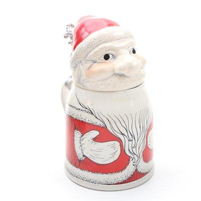Gerz Ceramic Santa Claus Beer Stein, 1949–1990
