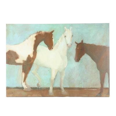 Giclee of Three Horses